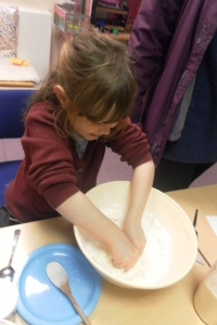 Making bread dough