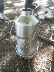Storm Kettle for explorers to make Nettle tea