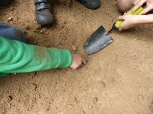 Digging a water well